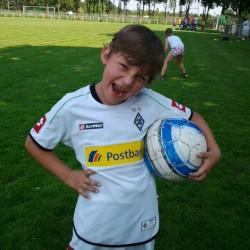 Maurice beim Fussball
